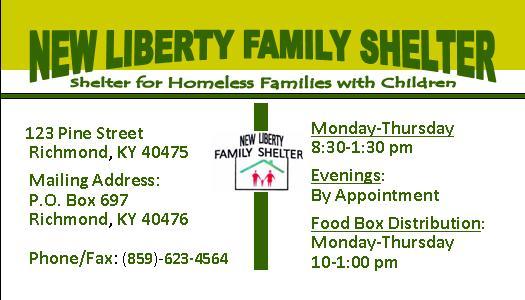 New Liberty Homeless Shelter